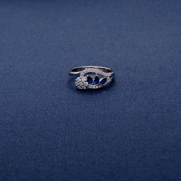 Sterling Silver Ring with Royal Blue Stone