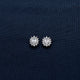 Oval-Shaped Silver Earrings with Sparkling Gem