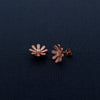 Bloomed Flowery Shaped Rose Gold Matte Studded Earrings