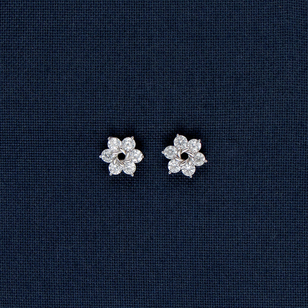 Ethereal Star-Shaped Silver Earrings