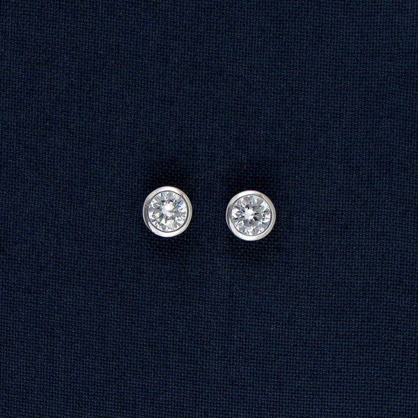 Silver Round Stud Earrings/Pendant with a Huge Gem Inlay