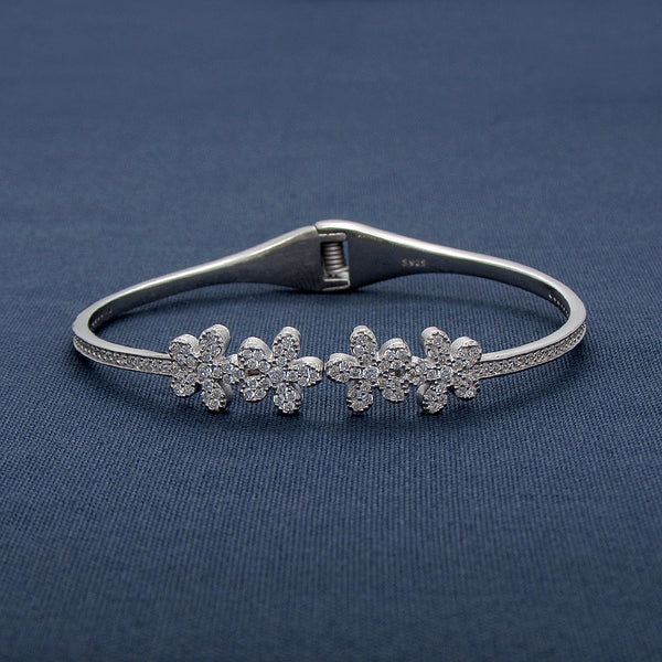 Four In A Row Flora Silver Bracelet