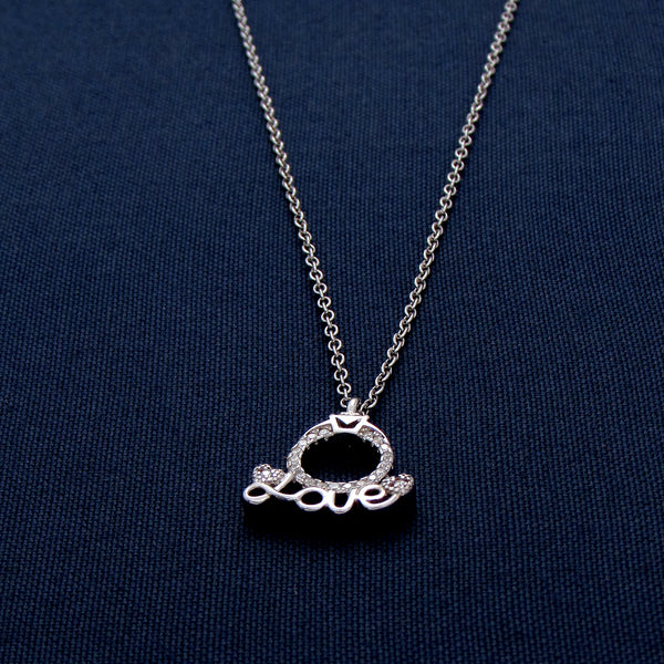 Love Sterling Silver Necklace with Circular Design