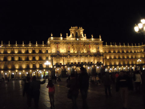 Town Square Salamanca - (Morocco motorcycle tour)