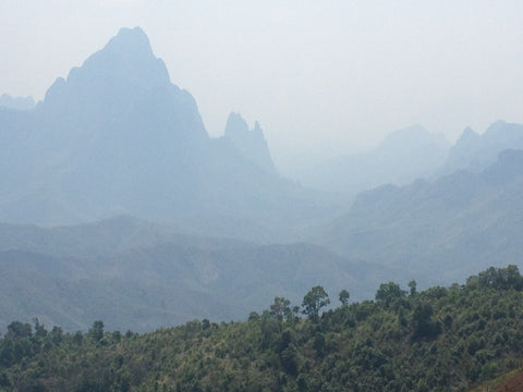 Thailand and Laos Motorcycle Tour - Mountain scenery
