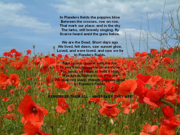 Please support Remembrance Day