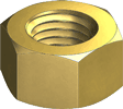brass finished hex nuts
