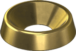 brass finish cup washers