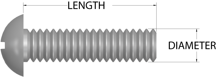 2d round head machine screw