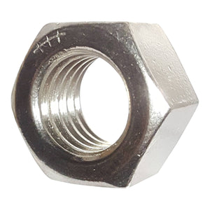 1-1/8-7 Finished Hex Nuts, Stainless Steel 18-8, Plain Finish, Quantity 5