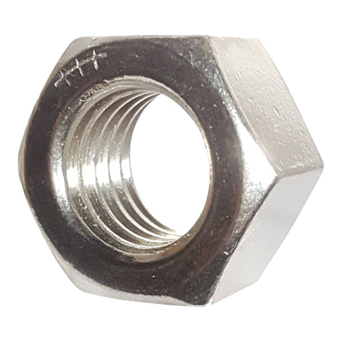 5/8-18 Finished Hex Nuts, Stainless Steel 18-8, Plain Finish, Quantity 10