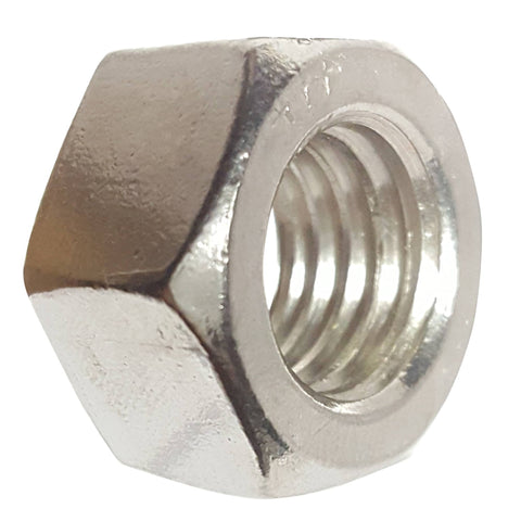 1-8 Finished Hex Nuts, Stainless Steel 18-8, Plain Finish, Quantity 5