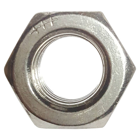 1/2-13 Finished Hex Nuts, Stainless Steel 18-8, Plain Finish, Quantity 25