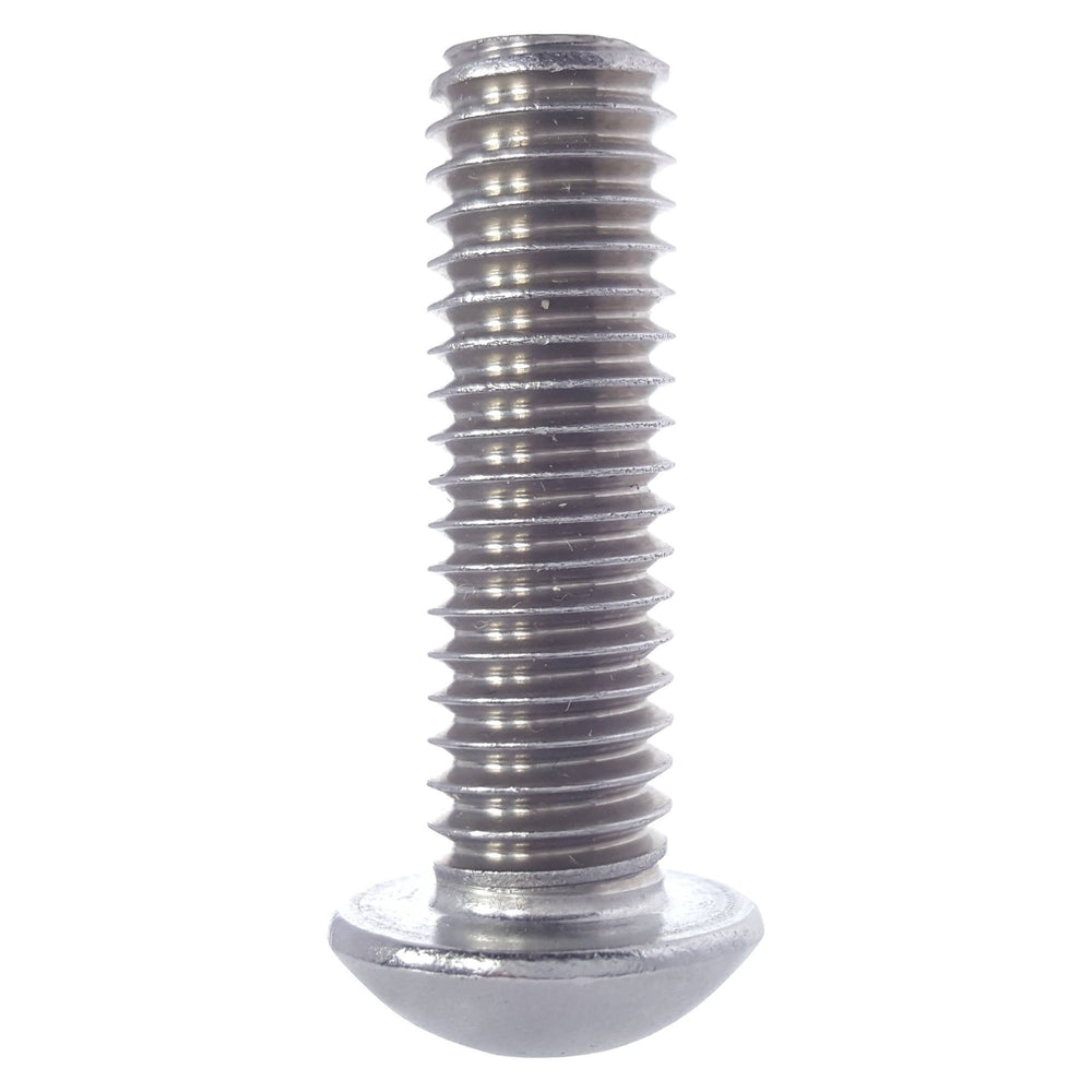 "1/4-28 x 1"" Button Head Socket Cap Screws Stainless Steel 316 Qty 25"