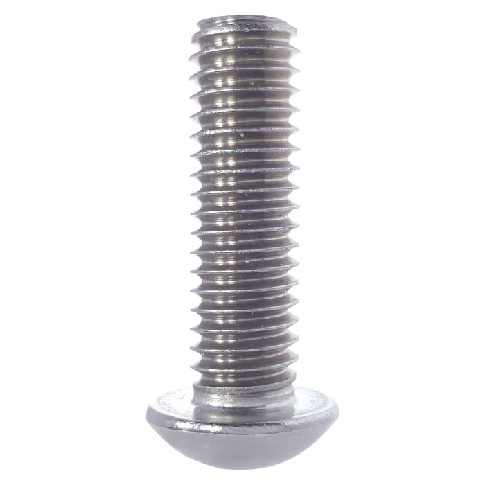 "1/4-20 x 5/8"" Button Head Socket Cap Screws Stainless Steel 316 Qty 25"