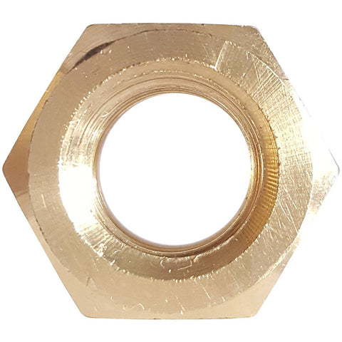 1/2-20 Finished Hex Nuts Solid Brass Grade 360 Plain Finish Quantity 10