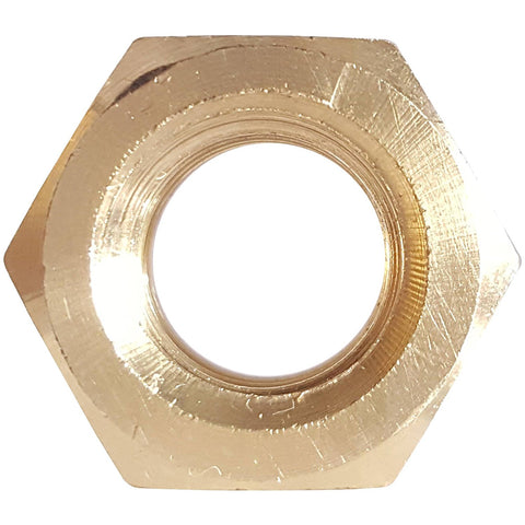 3/8-16 Finished Hex Nuts Solid Brass Grade 360 Plain Finish Quantity 25