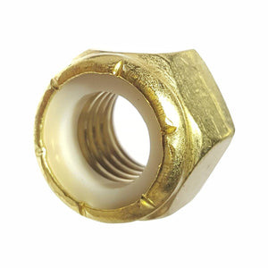 1/2-13 Solid Brass Nylon Insert Hex Lock Nuts Qty 10