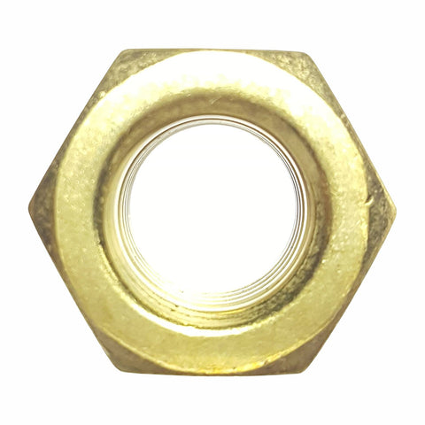 8-32 Solid Brass Nylon Insert Hex Lock Nuts Qty 50