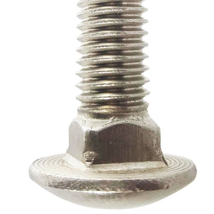 "5/8-11 x 7"" Round Head Carriage Bolts Stainless Steel 316 Qty 1"
