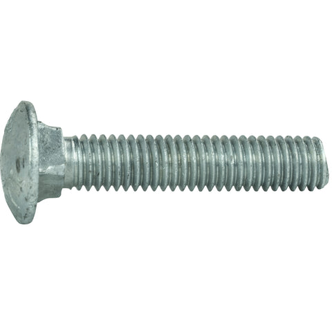 "5/16-18 x 2-1/2"" Galvanized Carriage Bolts and Nuts Quantity 50"