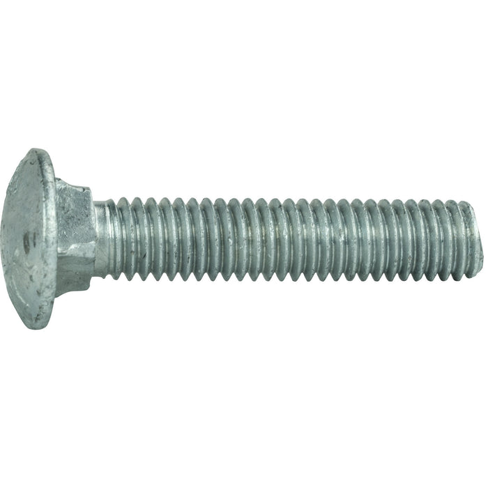 "1/4-20 x 6-1/2"" Galvanized Carriage Bolts and Nuts Quantity 25"
