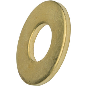 "3/8"" Solid Brass Flat Washers Commercial Standard Grade 360 Qty 50"