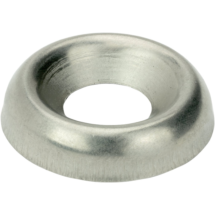 #12 Countersunk Finishing Cup Washers Stainless Steel 18-8 Qty 100