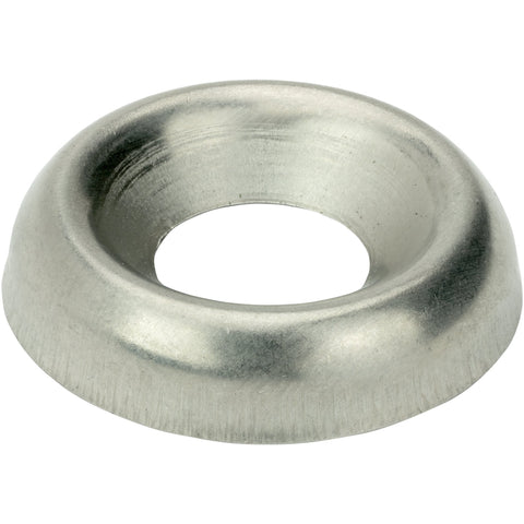 #6 Countersunk Finishing Cup Washers Stainless Steel 18-8 Qty 100