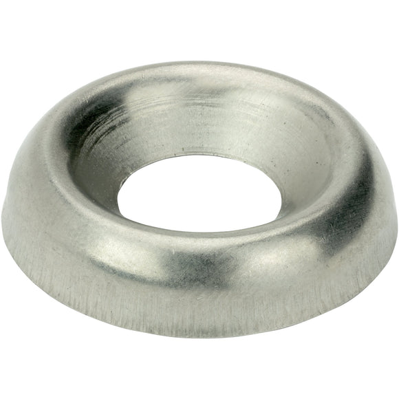 #6 Countersunk Finishing Cup Washers Stainless Steel 18-8 Qty 100 Washers Fastenere