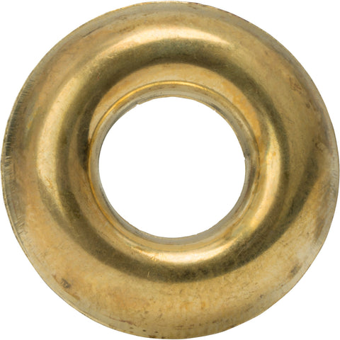 #6 Countersunk Finishing Cup Washers Solid Brass Grade 360 Qty 100