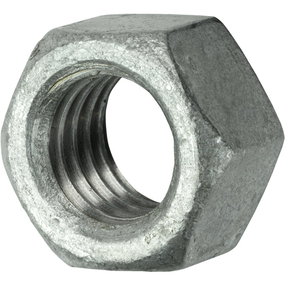 5/16-18 Finished Hex Nuts Galvanized Steel Qty 100