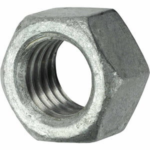7/8-9 Finished Hex Nuts Galvanized Steel Qty 10