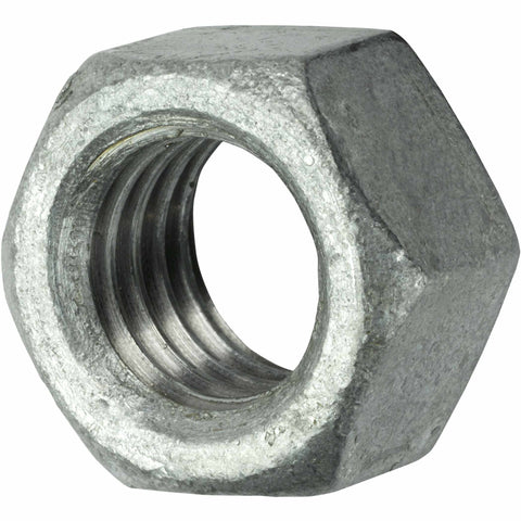 7/8-9 Finished Hex Nuts Galvanized Steel Qty 5