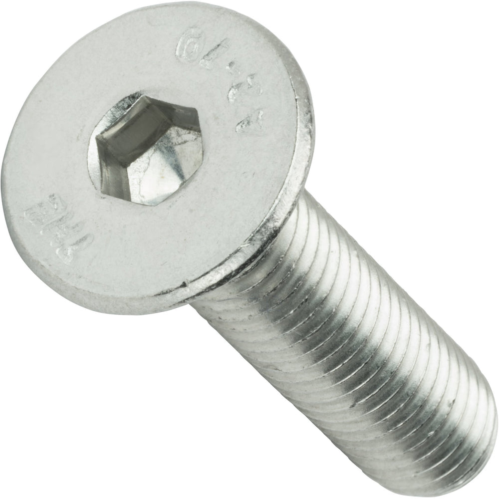 "1/4-28 x 1"" Flat Head Socket Cap Screws Stainless Steel 18-8 Qty 25"