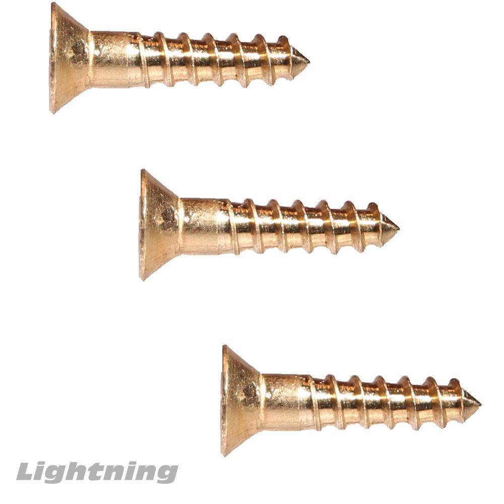 "#10 x 1-3/4"" Silicon Bronze Wood Screws, Flat Head, Frearson Drive Qty 25"