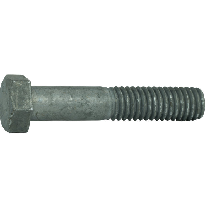 "1/2-13 x 11"" Hex Bolts Galvanized Cap Screws With Nuts Quantity 5"