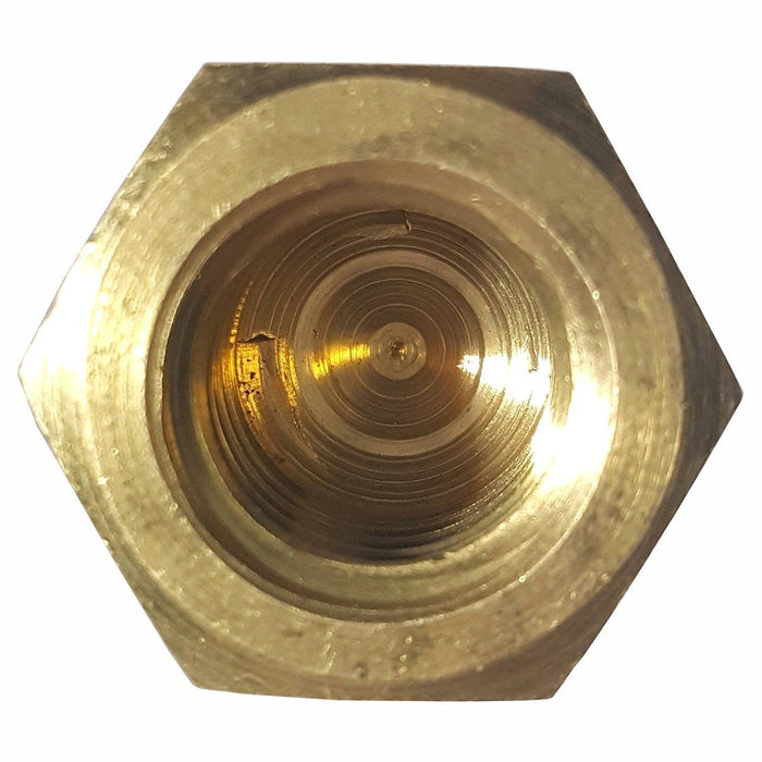 1/2-13 Hex Cap Nuts Solid Brass Grade 360 Commercial Plain Finish Quantity 10