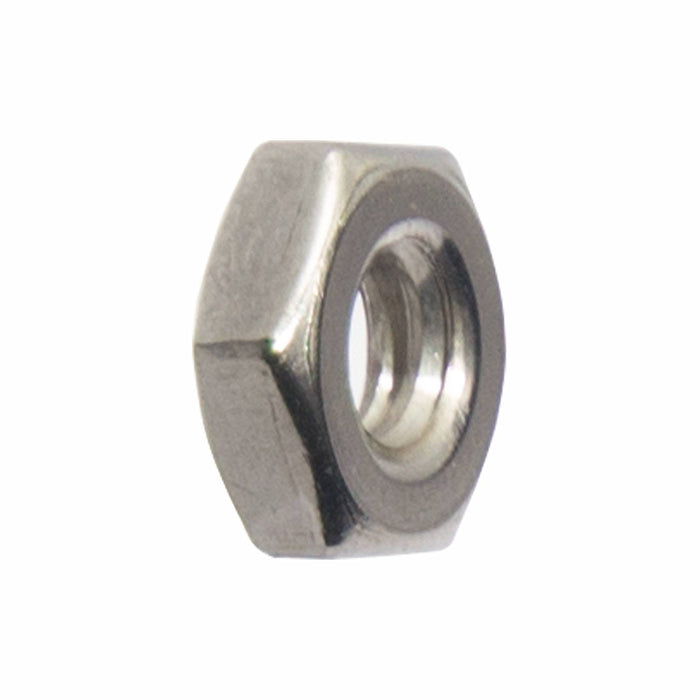 4-40 Machine Screw Hex Nuts, Stainless Steel 18-8, Bright Finish, Quantity 100