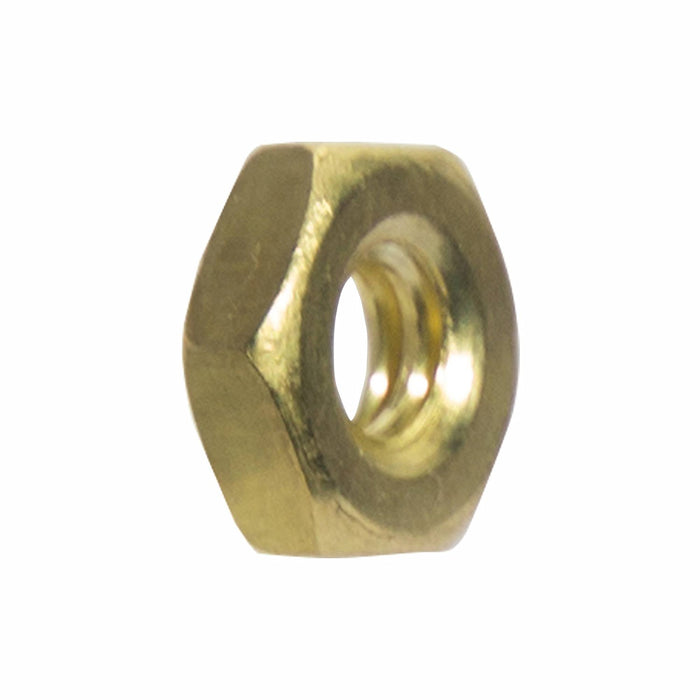 10-32 Machine Screw Hex Nuts Solid Brass Grade 360 Plain Finish Quantity 100