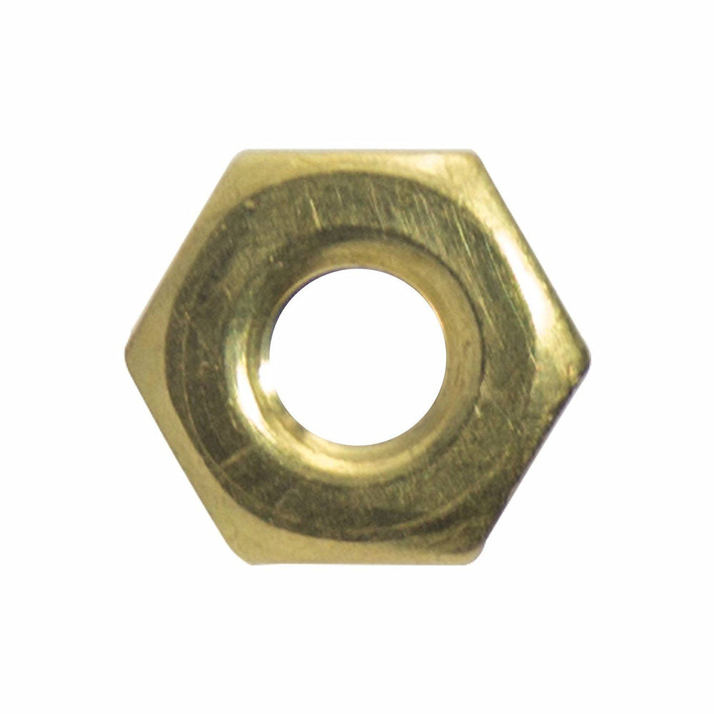 10-24 Machine Screw Hex Nuts Solid Brass Grade 360 Plain Finish Quantity 100