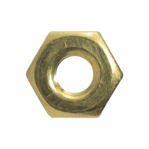 8-32 Machine Screw Hex Nuts Solid Brass Grade 360 Plain Finish Quantity 100