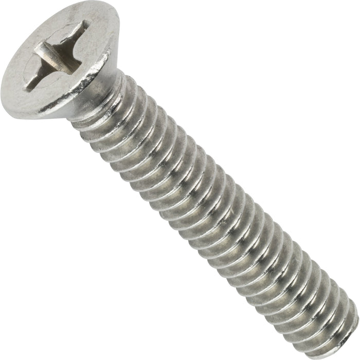 "10-24 x 1-1/2"" Phillips Flat Head Machine Screws Stainless Steel 18-8 Qty 50"