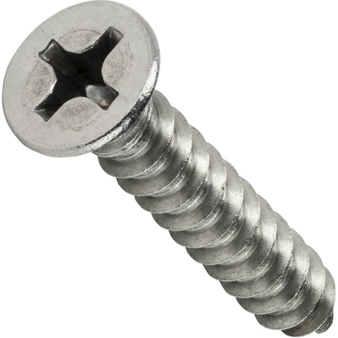 "#6 x 2-1/2"" Phillips Flat Head Sheet Metal Screws Stainless Steel 18-8 Qty 50 Sheet Metal Screws Fastenere"