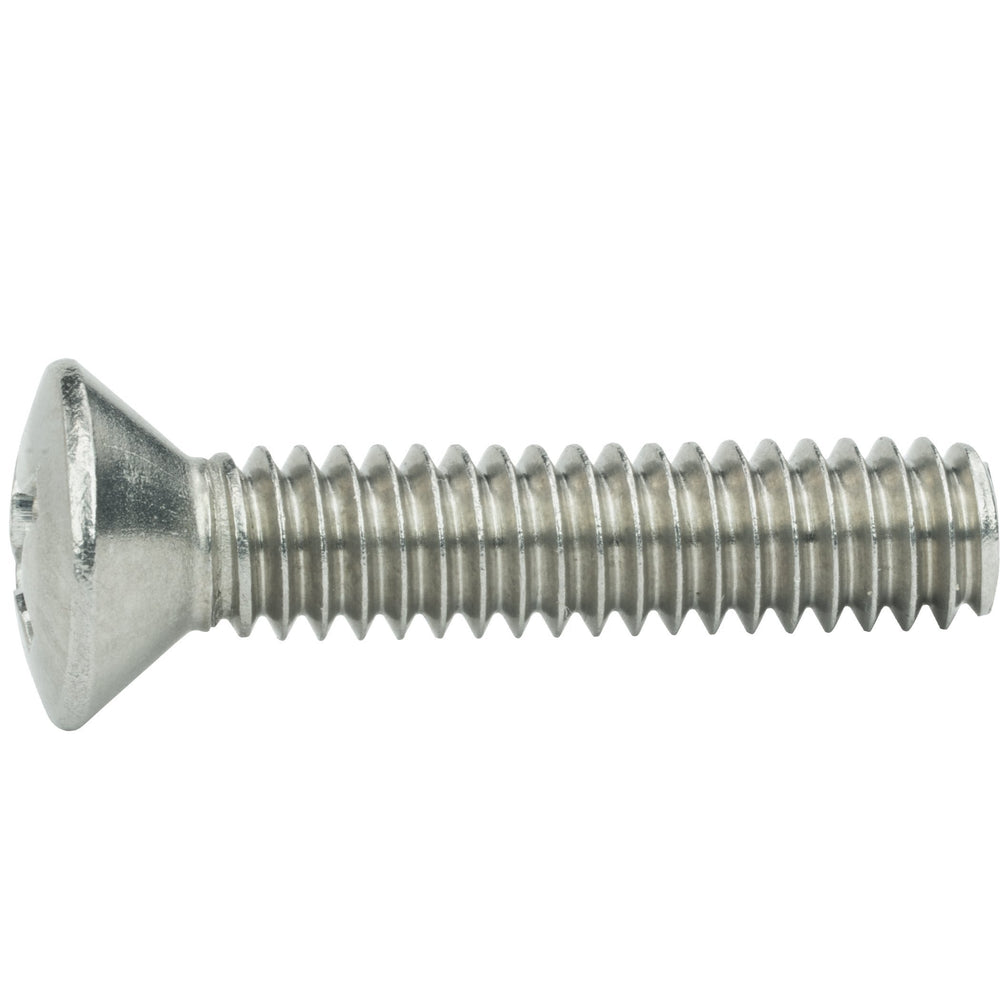 "1/4-20 x 3/4"" Phillips Oval Head Machine Screws Stainless Steel 18-8 Qty 50"