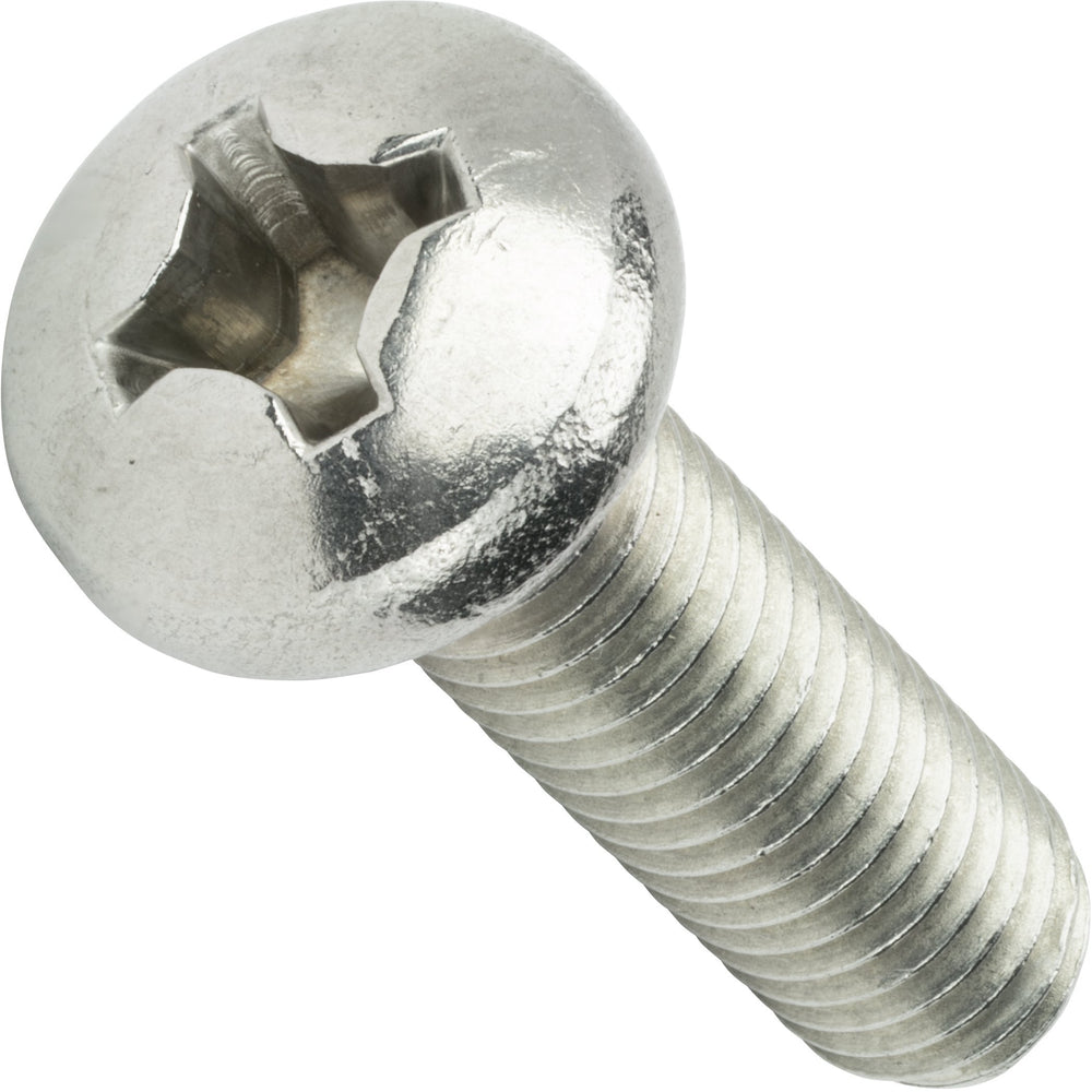 "1/4-28 x 1-1/2"" Machine Screws Pan Head Phillips Drive Stainless Steel Qty 25"