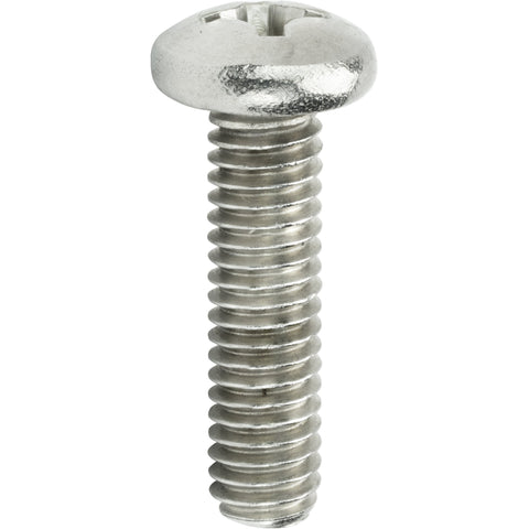 "1/4-28 x 1"" Machine Screws Pan Head Phillips Drive Stainless Steel Qty 25"