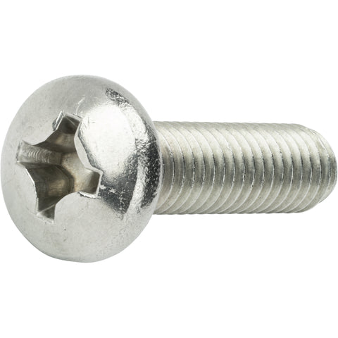 "3/8-16 x 1/2"" Pan Head Machine Screws Phillips Drive Stainless Steel Qty 25"