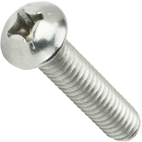 "6-32 x 3/8"" Phillips Round Head Machine Screws Stainless Steel 18-8 Qty 100"