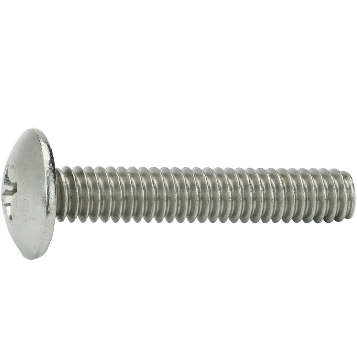 "1/4-20 x 1-1/2"" Phillips Truss Head Machine Screws Stainless Steel 18-8 Qty 25"